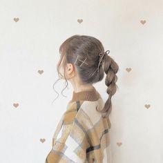 Korean Girl Photo, Cute Korean Girl, Pretty Hairstyles, Easy Hairstyles, Girl Hairstyles, Blackpink Photos, Girl Photos, Aesthetic Hair, Anime Dress