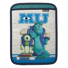 Shop Mike and Sulley MU iPad Sleeve created by disneypixarmonsters. Personalized Gifts For Kids, Customized Gifts, Custom Gifts, Disney Ipad Case, Custom Ipad Case, Mike And Sulley, Ipad Sleeve, Ipad Mini 2, Apple Ipad
