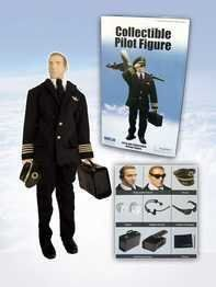 Daron Toys Collectible Airline Pilot Doll by Daron toys. $36.82. comes with Pilot hat, Gloves, Realistic Head Set, Authentic Sunglasses, Fuctioning Briefcase and Pilot log. 1/6 scale 12 inch tall Authentic Airline Pilot doll. This 1/6 scale 12 inch tall Authentic Airline Pilot doll comes with Pilot hat, Gloves, Realistic Head Set, Authentic Sunglasses, Fuctioning Briefcase and Pilot log.