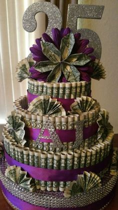 Money Cake By Deidre Mcphee | Money Birthday Cake, Birthday Goals, Money Cake, Diy Birthday, Birthday Parties, 25th Birthday Ideas For Her, Homemade Gifts, Diy Gifts, Bolo Fack