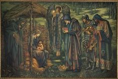 The Star of Bethlehem by Sir Edward Burne-Jones who died on this day (17 June) in 1898. This painting can be seen in gallery 14 at Birmingham Museum and Art Gallery. #painting #artgallery #artmuseum #birminghamuk #bmag #arthistory #watercolour #preraphaelite #burnejones #instamuseum #culturegram #starofbethlehem #onthisday #birminghamhistory