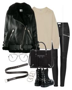 """""""Untitled #3183"""" by theeuropeancloset on Polyvore featuring Yves Saint Laurent, Balenciaga, Acne Studios and Forever 21"""