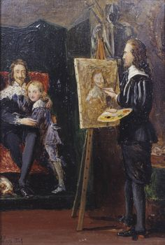 Sir John Everett Millais, Bt, 'Charles I and his Son in the Studio of Van Dyck' 1849