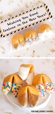 Wish your guests good luck in the new year with these fortune cookie party favors. #Ad