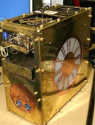 Gold Time PC case ((could make it a working clock by making the hands appear behind the lighted portion))