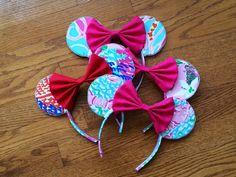 Lilly Pulitzer Teddy Bear Ears Headband by annieannieannieannie