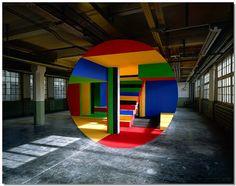 wise design interiors: Georges Rousse: Anamorphic Art