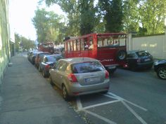 Our friend Jose posted picture of sighteeing train passing street in Bratislava, just in front of his Palace Garden Bratislava apartment entrance passed this small red train... Just hopon and dive in history of Bratislava city center...