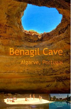 """""""With its own 'indoor' beach, two sea-facing holes and a further circular skylight eroded through its ceiling ...."""" is the Benagil Cave in the #Algarve in #Portugal one of the 50 most beautiful places in the world to visit. Take a boat tour out of the Marina of Albufeira (4km from #VakantiehuisAlgarve) to get there!"""