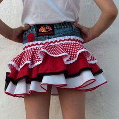 Falda corta 7 African Dress, Refashion, Thrifting, Jeans, Kids Fashion, Sewing, Chic, Children, Clothes