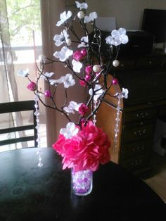 Table Centerpieces for my daughters quince