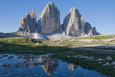 Le Tre Cime di Lavaredo, Dolomites, Italy (via Affreschi & Affreschi)