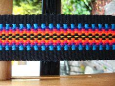 Custom guitar strap woven by Annie MacHale #guitar #guitarstrap #wovenstrap