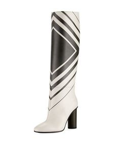 021a459d46da Anya Hindmarch Large Diamond Knee-High Boot