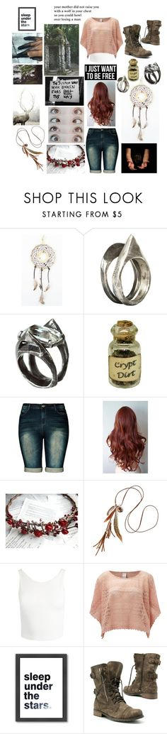 """Evangeline Lily Evans"" by flyingunikittys-poopattack on Polyvore featuring Unearthen, Dollhouse, City Chic, H&M, Sans Souci, Vila Milano, Americanflat and CO"