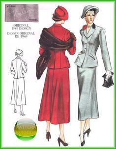 Vogue 2476 Vintage 1949 Model Suit Patterns