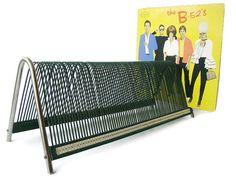 Vintage vinyl record holder for LPs extra large by VintageBreda