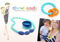 #TeethingThursday with @chewbeads #teething #necklaces , #bracelets , #toys and more! These #beautiful neclaces are not only #stylish but #practical for #baby to #teeth on as well! #mommychicbabysafe #shoplearngrow #ilmbaby #fashionable