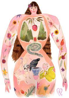 Illustration by Herikita Painting Inspiration, Art Inspo, Art Et Illustration, Graphic Illustrations, Art Reference, Illustrators, Folk Art, Character Design, Art Prints