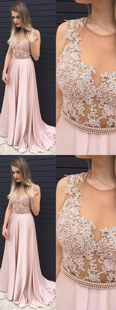 A-line Scoop Floor-length Sleeveless Chiffon Prom Dress/Evening Dres # VC1198