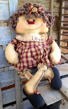 Primitive Rag Doll Pearly Claire
