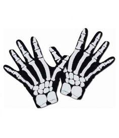 Γάντια σκελετού με τύπωμα