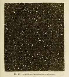 Fig. 29. Le petit carré precédént vue au télescope. Les Merveilles Célestes. 1881.