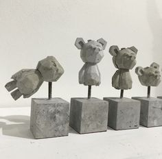 Relic Concrete Bears By FLABSLAB x Bananavirus x Concreategoods