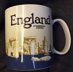 Starbucks England Mug Stonehenge Icon 2015 Version 3 Country Blue New US Ship #Starbucks