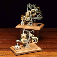 The Stirling Engine was invented by a Scottish minister named Robert Stirling in It runs on very little energy, using an ingenious inter-cylinder air-exc Model Engine Kits, Stirling Engine, Chris Craft, Wood Steel, Model Airplanes, Craft Work, Craft Kits, Inventions, Engineering