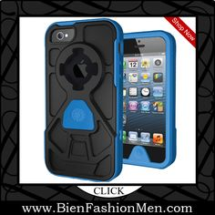 Mens iPhone Wallet | iPhone Case | iPhone Cover | Phone Wallet ♦ Rokform 430846 Rokshield v3 Case for iPhone 5 - 1 Pack - Retail Packaging - Black/Blue $36.96