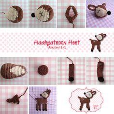 Keet & Co: Haakpatroon hert, #haken, gratis patroon, Kerstmis, amigurumi, knuffel, speelgoed