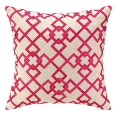 Chain Link Pillow in Pink