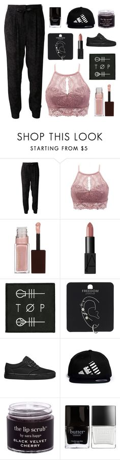 """Doubt // twenty one pilots"" by luciamenesess ❤ liked on Polyvore featuring TIBI, Charlotte Russe, Kevyn Aucoin, NARS Cosmetics, Topshop, Vans, LPD NEW YORK and Butter London"