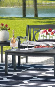 Our Paxton Outdoor Wood Tables offer smooth, slatted tabletops that pair perfectly with most of our wood outdoor furniture pieces and collections.