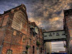 Derelict Gloucester Docks HDR by montezumola, via Flickr