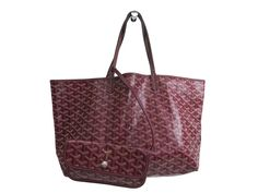 #Goyard Saint Louis PM Tote Bag Canvas/Leather Bordeaux (BF109640): All of #eLADY's items are inspected carefully by expert authenticators who have years of experience. For more pre-owned luxury brand items, visit http://global.elady.com