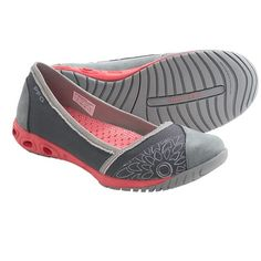 Columbia Sportswear Sunvent PFG Ballet Flats - Solid (For Women) in Charcoal/Hot Coral