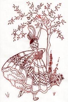 vintage transfer patterns for embroideryfree vintage machine embroidery patterns Folk Embroidery, Embroidery Transfers, Hand Embroidery Patterns, Vintage Embroidery, Ribbon Embroidery, Cross Stitch Embroidery, Machine Embroidery, Embroidery Designs, Embroidery Sampler
