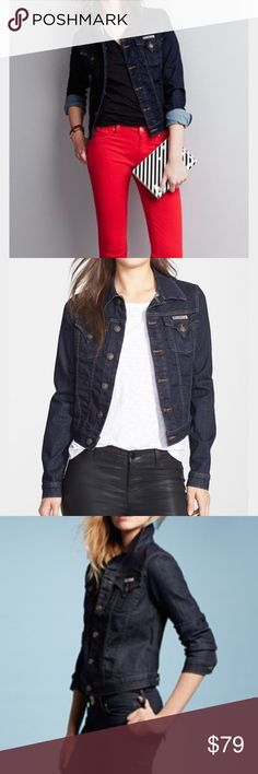 Hudson Jeans Navy Jean Jacket Hudson Jeans Navy Jean Jacket. Size S. Will work great with any outfit, perfect piece to wear during springtime or cooler summer day! Feel free to ask any questions! 💜💜💜 Hudson Jeans Jackets & Coats Jean Jackets