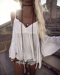 79b42de051518 Black Leather Wrap Choker Necklace at MyBodiArt.com - Bohemian White Lace  Pattern Boho Style