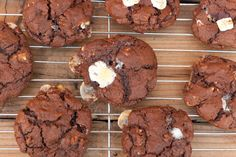 Rocky Road Cookies, kinda like S'more cookies. Chocolate cookies with marshmallows and pecans.