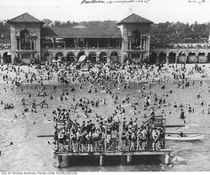 What Sunnyside looked like before the Gardiner arrived  Bathing station, 1924