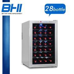 17.8W x 28.8H  $169  Single Temperature Zone Wine Refrigerator Cooler 28 Bottle 70D Chiller Fridge NEW
