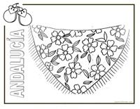 dia de andalucia infantil | dibujos para colorear de Andalucía. Colorear productos Andalucía.