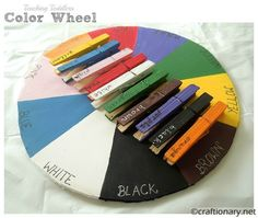 Color wheel Kids teaching kids colors is learning activity. Colour wheel project for toddlers is recycleable, inexpensive craft for montessori & preschool. Teaching Toddlers Colors, Preschool Colors, Teaching Colors, Kids Learning Activities, Color Activities, Toddler Learning, Fun Learning, Preschool Activities, Teaching Ideas