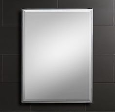"""Restoration Hardware, Traditional Wall Mirror 30"""" x 40"""" $359 in Polished Chrome (Other finishes; other sizes)"""