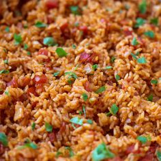 This flavorful spanish rice is a perfect side dish to serve along with tacos, burritos or enchiladas! Start to finish, it's ready to go in less than 30 minutes!