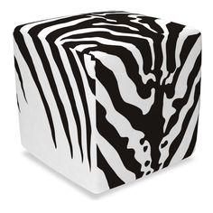 Hocker Cube mit Bezug Zebra günstig online kaufen - FASHION FOR HOME
