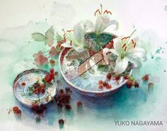 Flower watercolor artist ... Yuko Nagayama .. Discussion on LiveInternet - Russian Service Online Diaries